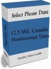 12.5 MillionCanada Homeowners Data